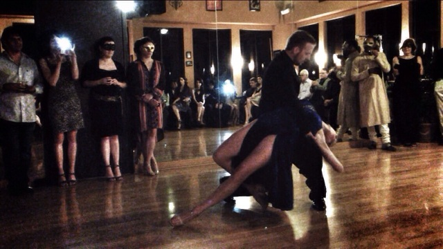 Liz and Yannick Vanhove perform in Houston for The Argentine Tango Club