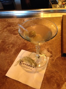 Dirty Martini with blue cheese stuffed olives