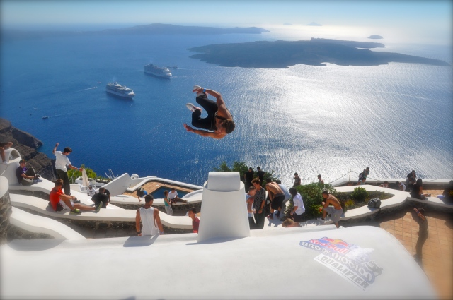 Red Bull - Art of Motion. Qualifier round. Santorini, Greece