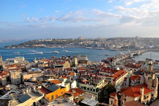 Istanbul, Turkey from Galata Tower.