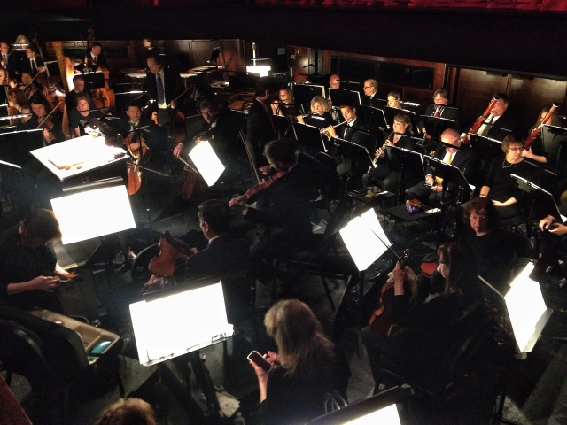 The Houston Ballet Orchestra warming up. iPhone5